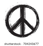 Grunge Peace Sign.vector Dirty...