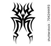 tattoo tribal vector design.... | Shutterstock .eps vector #704244493