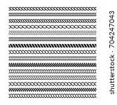 rope brushes set. rope frame... | Shutterstock .eps vector #704247043