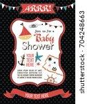 baby shower invitation card... | Shutterstock .eps vector #704248663