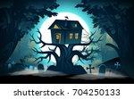 halloween background. halloween ...   Shutterstock .eps vector #704250133