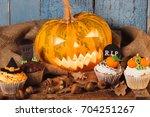 Halloween Pumpkin And Cupcakes...