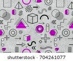 geometric memphis pattern for...   Shutterstock . vector #704261077