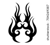 tribal tattoo art designs.... | Shutterstock .eps vector #704269387