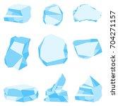 brilliant cold blocks of ice...   Shutterstock .eps vector #704271157