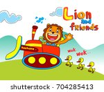 lion and friends   vector... | Shutterstock .eps vector #704285413