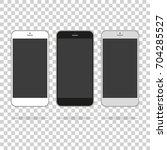 smart phone  mobile phone... | Shutterstock .eps vector #704285527