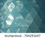 angular glass mirror cladding... | Shutterstock . vector #704291647