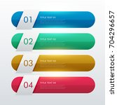four steps colorful infographic ... | Shutterstock .eps vector #704296657