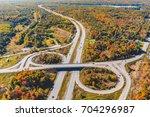 highway junction aerial view in ...   Shutterstock . vector #704296987