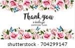 natural vintage greeting frame... | Shutterstock .eps vector #704299147