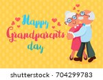 happy grandparents day greeting ... | Shutterstock .eps vector #704299783