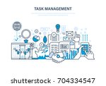 task management concept. time... | Shutterstock .eps vector #704334547
