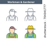 occupations colorful avatar set ... | Shutterstock .eps vector #704341777