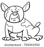 black and white cartoon... | Shutterstock . vector #704341933