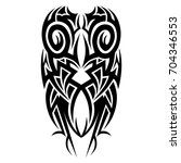 tattoo art designs tribal... | Shutterstock .eps vector #704346553