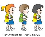 kids going to school | Shutterstock .eps vector #704355727