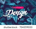 bright tropical background with ...   Shutterstock .eps vector #704359033