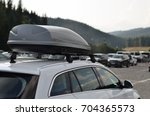 car with the roof rack with... | Shutterstock . vector #704365573