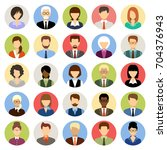 business people avatars in a... | Shutterstock .eps vector #704376943