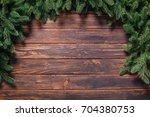 christmas or fir backgrounds.... | Shutterstock . vector #704380753
