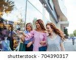 shot of three women window... | Shutterstock . vector #704390317