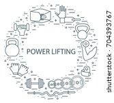 weightlifting icons set... | Shutterstock .eps vector #704393767