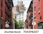 historic buildings at the... | Shutterstock . vector #704398207