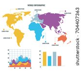 world map infographic... | Shutterstock .eps vector #704407363
