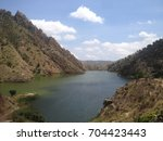 lake and mountain view | Shutterstock . vector #704423443