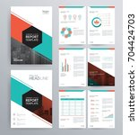 template design for company... | Shutterstock .eps vector #704424703