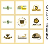 assembly flat icons nature logo ... | Shutterstock .eps vector #704441197