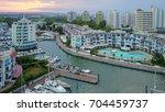 portovenere harbor aerial view... | Shutterstock . vector #704459737