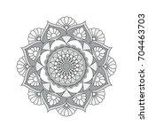 flower mandalas. vintage... | Shutterstock .eps vector #704463703