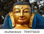 buddha golden statue at the...   Shutterstock . vector #704473633