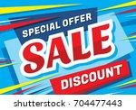 sale vector banner template  ... | Shutterstock .eps vector #704477443