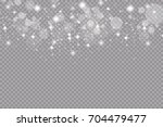 set of golden glowing lights... | Shutterstock .eps vector #704479477