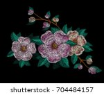 set of flowers. traditional... | Shutterstock .eps vector #704484157