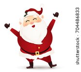 christmas cute  cheerful  funny ...   Shutterstock . vector #704486833