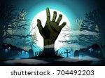 Halloween Background. Zombie...