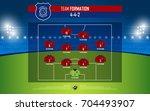 football or soccer match... | Shutterstock .eps vector #704493907