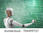 3d rendering robot learning or... | Shutterstock . vector #704499727