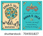 wedding invitation card... | Shutterstock .eps vector #704501827
