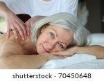 senior woman having a massage | Shutterstock . vector #70450648