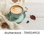 autumn morning composition...   Shutterstock . vector #704514913