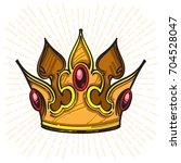 gold crown. vector illustration ... | Shutterstock .eps vector #704528047