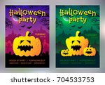 set of halloween party design... | Shutterstock .eps vector #704533753