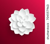 paper flower. lotus cut from... | Shutterstock .eps vector #704557963