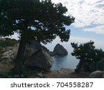 view of the diva rock and wild... | Shutterstock . vector #704558287
