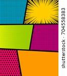 pop art comics book magazine... | Shutterstock .eps vector #704558383